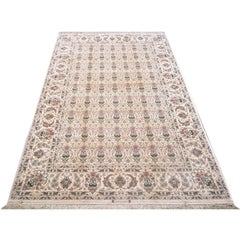 Persian Hand-Made All-Over Isfahan Floral Rug