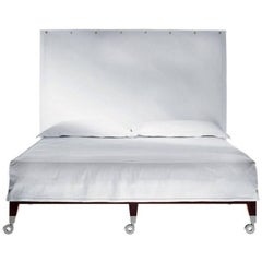 """Neoz"" Castored Mahogany Double Bed Designed by Philippe Starck for Driade"