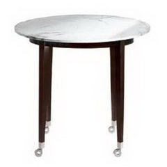 """Neoz"" Carrara Marble Castored High Round Table Designed by P. Starck for Driade"