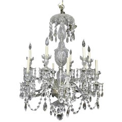 Fine George III Style Anglo-Irish Cut-Glass Chandelier