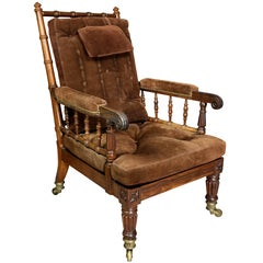 George IV Rosewood Bergere Chair by Gillows