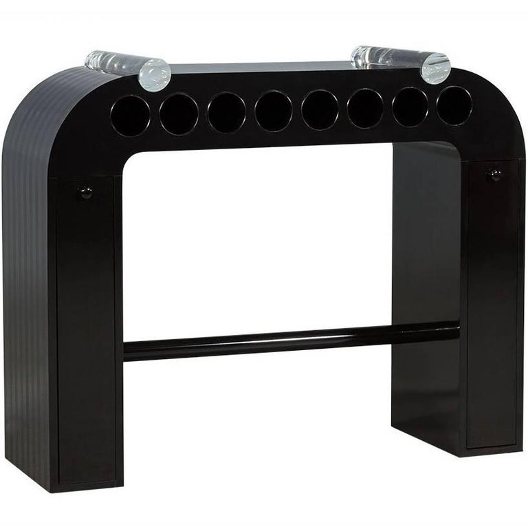 Vintage Deco Waterfall Bar Console Table