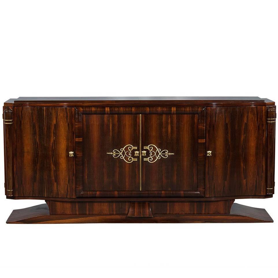 Vintage Art Deco Macassar Sideboard Buffet