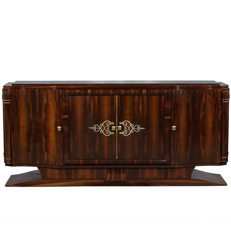 vintage art deco macassar sideboard buffet for sale at 1stdibs. Black Bedroom Furniture Sets. Home Design Ideas