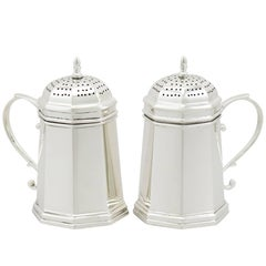 1900s Antique Pair of American Sterling Silver Kitchen Peppers by Tiffany & Co.