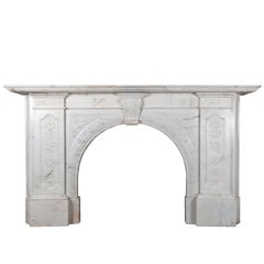 Victorian Carved Marble Fireplace