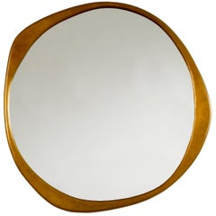 A. Cepa Wall Mirror in Hand-Patinated Bronze