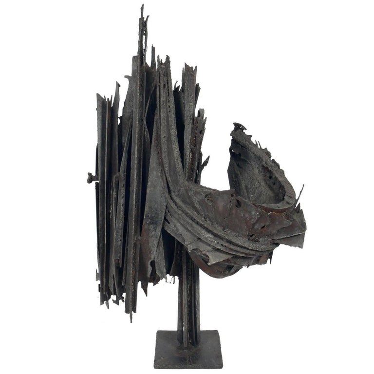 Mid Century Brutalist Sculpture For Sale