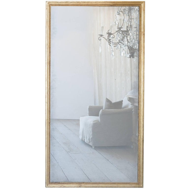Eloquence® Grande Eugenie Panel Mirror in Toasted Almond and Gold For Sale