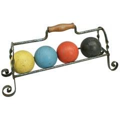 Croquet Balls on Stand