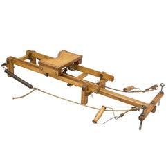 Vintage Wooden Rowing Machine