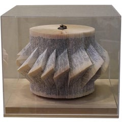 Folded Book Sculpture, Italy, Contemporary