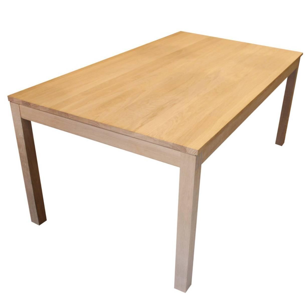 Massive Oak Dining Table by Trekanten Hestbk Danish Design For