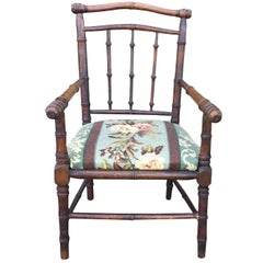 Late 19th-Early 20th Century English Faux Bamboo Childs Chair