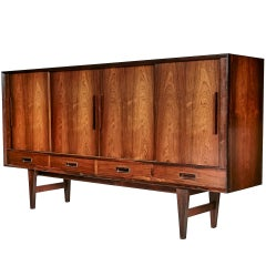 Cherry Wood Tall Dresser By Kindel Furniture Co 1960s For