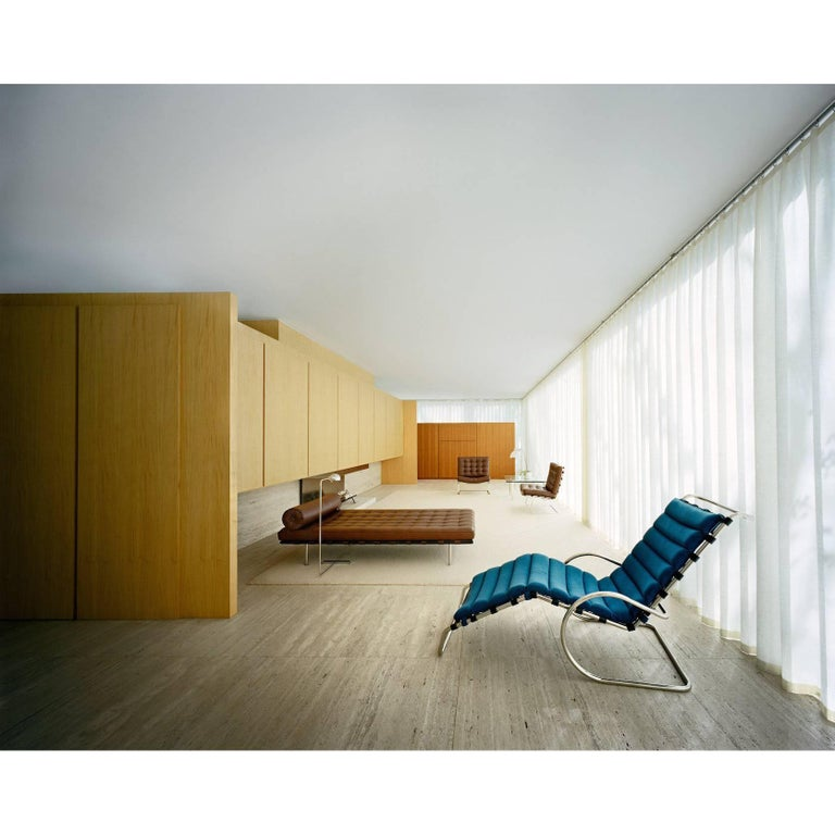Mies van der Rohe Farnsworth House, Interior, Photograph by Francois Dischinger