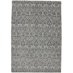 New Modern Transitional Gray Ikat Area Rug