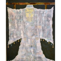 Kimono Series Mixed Media Painting Titled BIJOU by Jane Evans