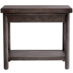 NK Collection White Oaks Single Drawer Nightstand Finished in Smoked Oak