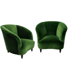 A Pair Of Large Sculptural Armchairs By Parisi