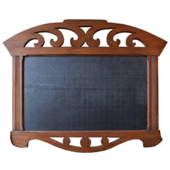 German Wood and Slate Chalkboard