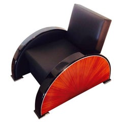 Art Deco Rosewood Armchair