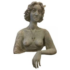 Early 20th Century Bust of Young Lady