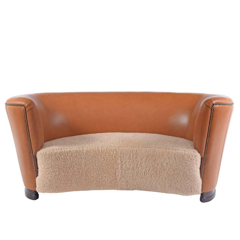 1940s Danish Free-Form Settee For Sale