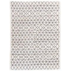 Handmade Contemporary Flat-Weave, Bereber Design