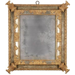 Large Italian Baroque Style Antiqued Mirror