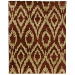 New Modern Ikat Area Rug with Transitional Style