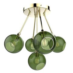 Ballroom Molecule Gold/Green Chandelier Gold Base