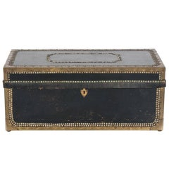 1900s Black Steamer Trunk