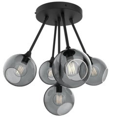 Ballroom Molecule Black/Smoke Chandelier Black Base