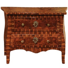 Early 19th Century Italian Inlaid Apprentice Commode in Fruitwood, Elm, & Walnut