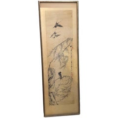 Chinese Scroll Painting, Mounted on Board, 19th-20th Century