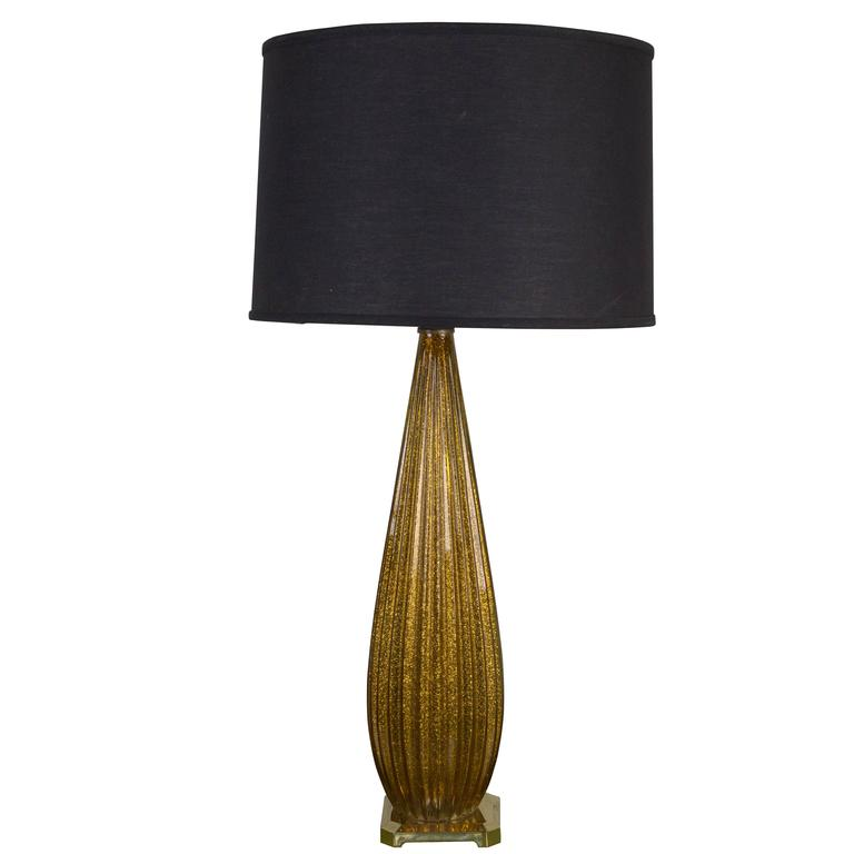 Tall Gold Murano Glass Lamp