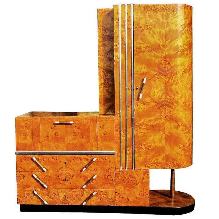 Vintage Art Deco Armoire For Sale