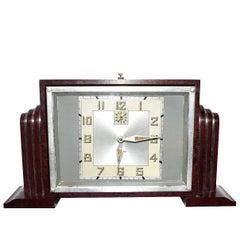 French Bakelite Art Deco Clock by Bayard