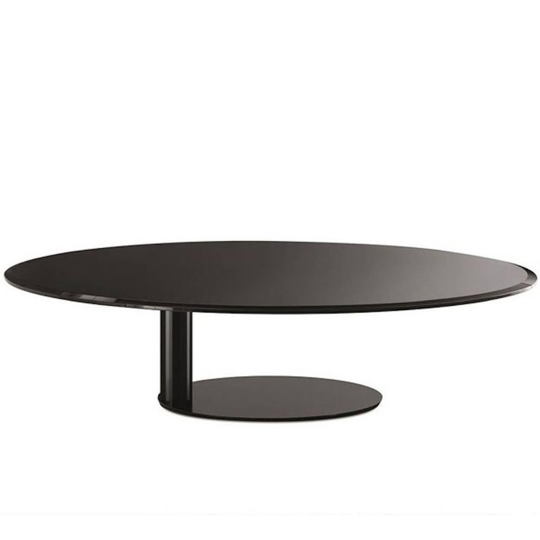 Oto Mini Coffee and Side Tables in Back-Painted Glass by Gallotti & Radice