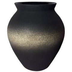 Dark Matte Ombre Wide Mouth Urn Vase by Sandi Fellman