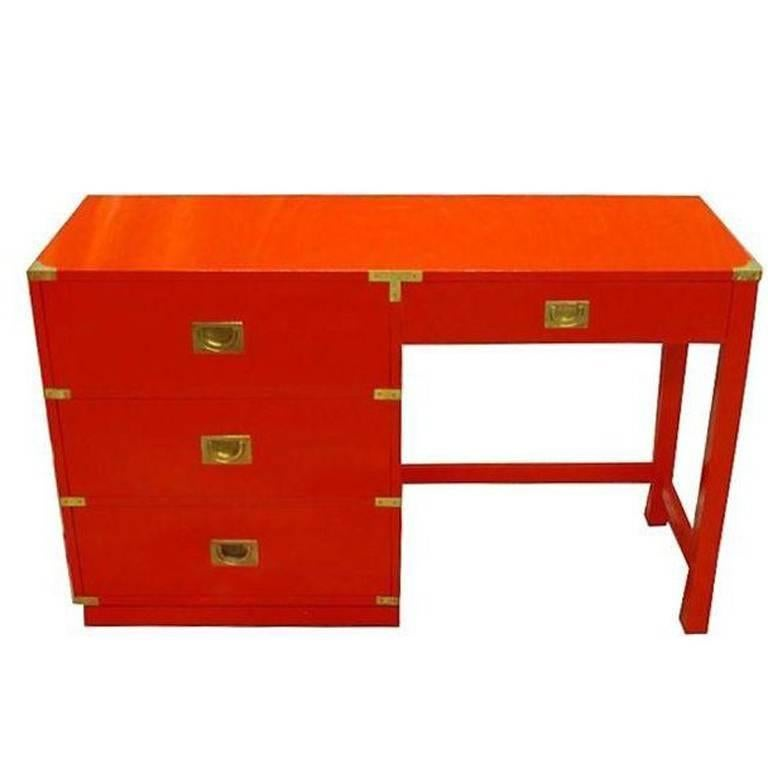 Drexel Heritage Lacquered Campaign Desk