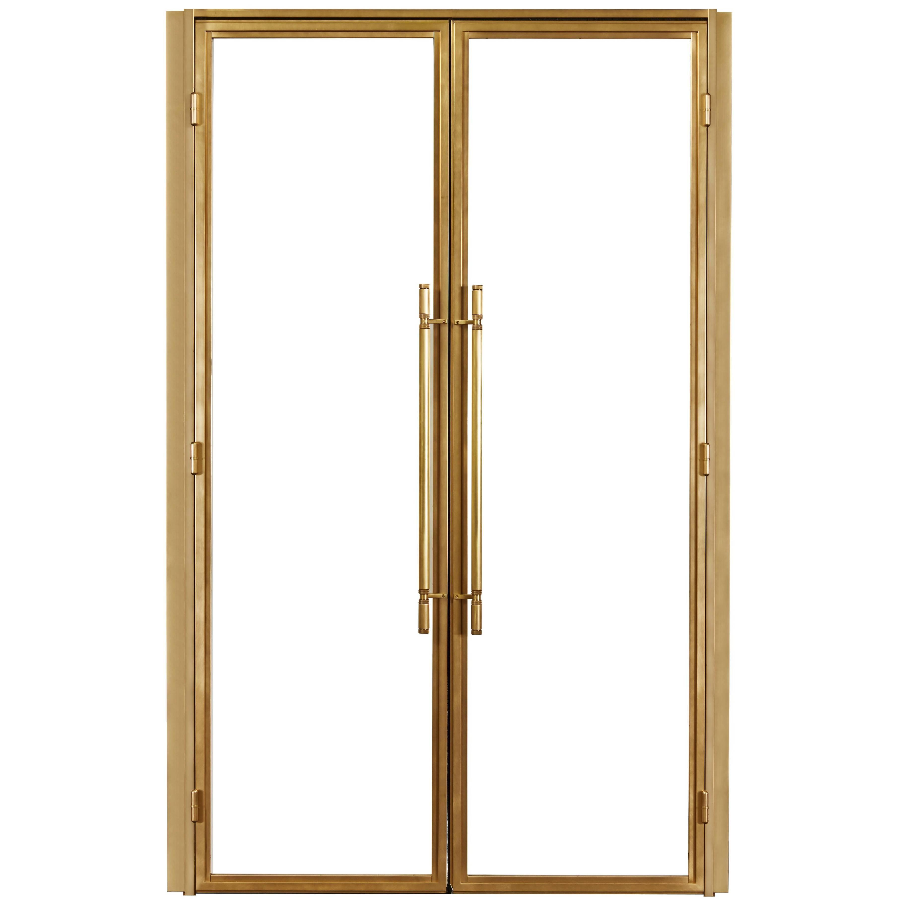 Clean Modern Bronze Doors With Machined Bronze Door Pulls And Hinges 1