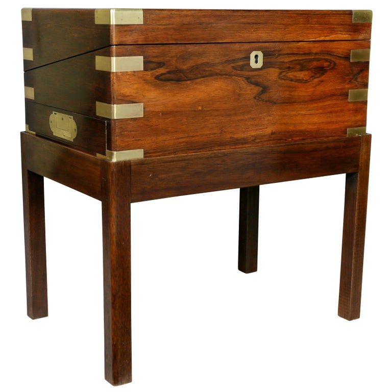 Early Victorian Rosewood Lapdesk on Stand
