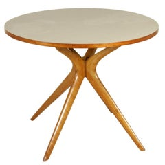 Table Beech Base Formica Covered Top Vintage Manufactured in Italy, 1950s