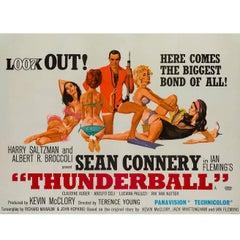Thunderball Original UK Film Poster, Robert McGinnis, 1965