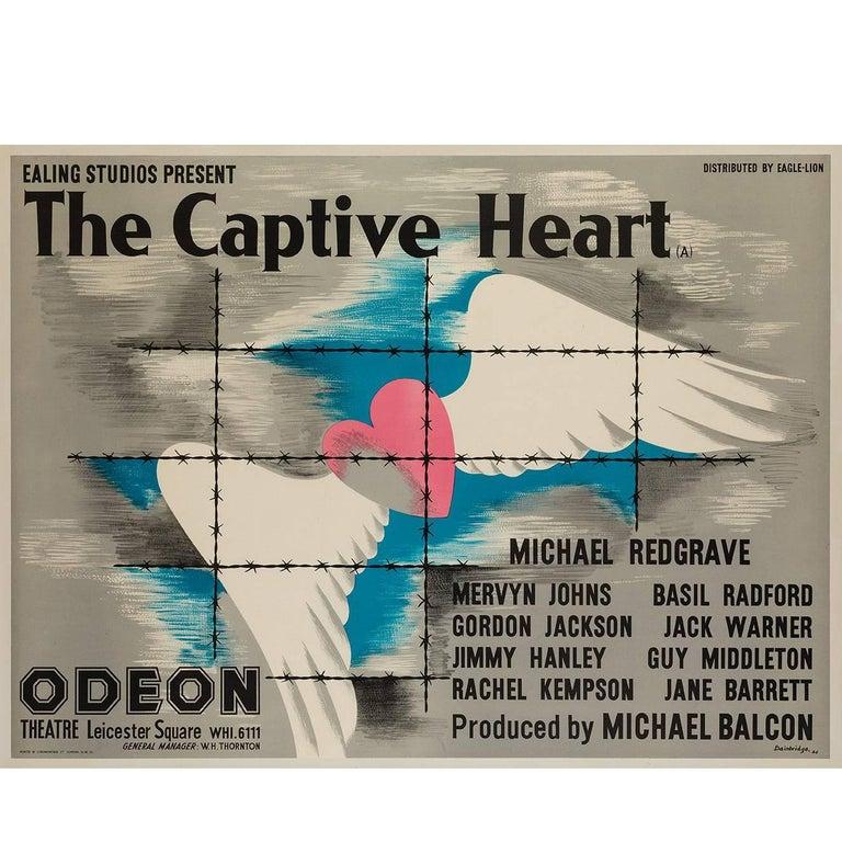 Captive Heart Original UK Film Poster, John Bainbridge, 1946