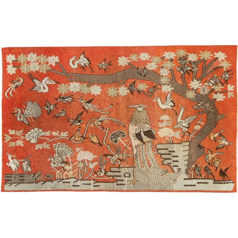 Antique Khotan Pictorial Rug