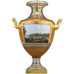 Royal KPM Porcelain Topographical Vase