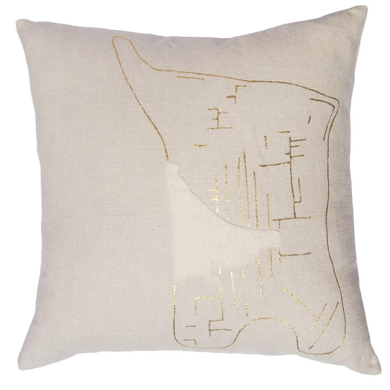 Yin Bonbon Chouval Pillow, Linen For Sale